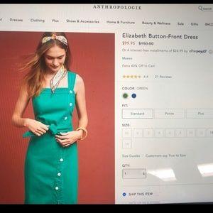 Anthropologie Dresses - Anthropology Elizabeth Button-Front Dress